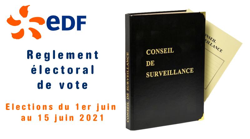 Elections FCPE EDF 2021…Règlement électoral