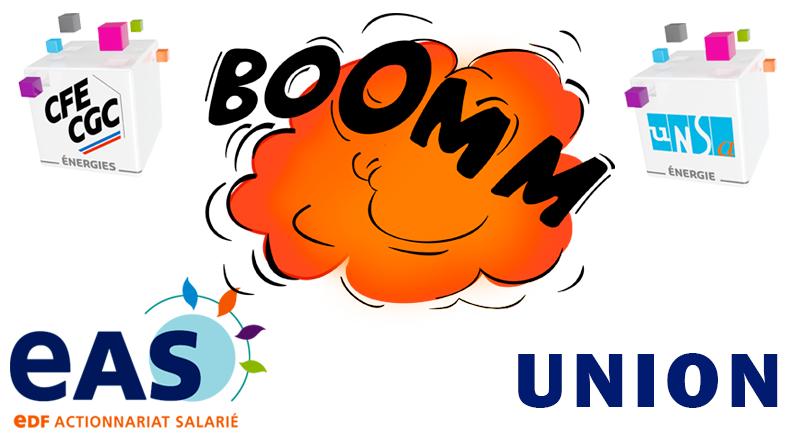 L'annonce de l'union d'EAS avec la CFE Energies et l'UNSA Energie a fait l'effet d'une bombe !