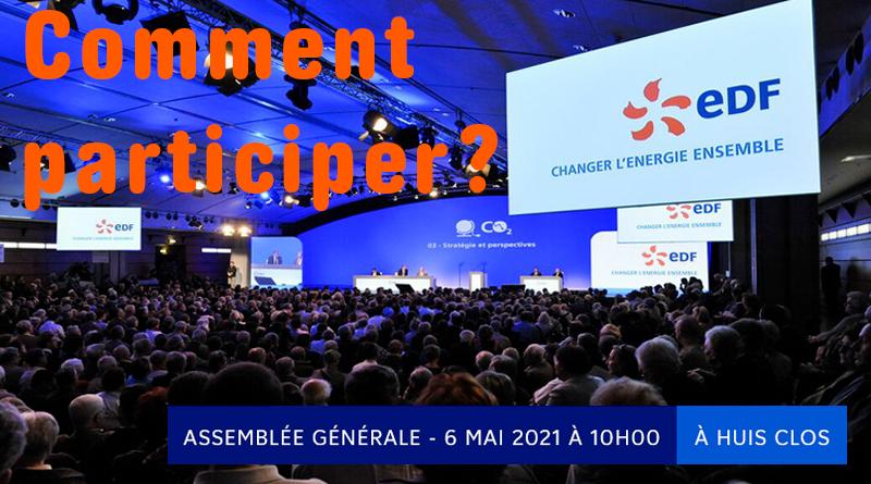 Comment participer à l'Assemblée générale des actionnaires EDF le 6 mai 2021